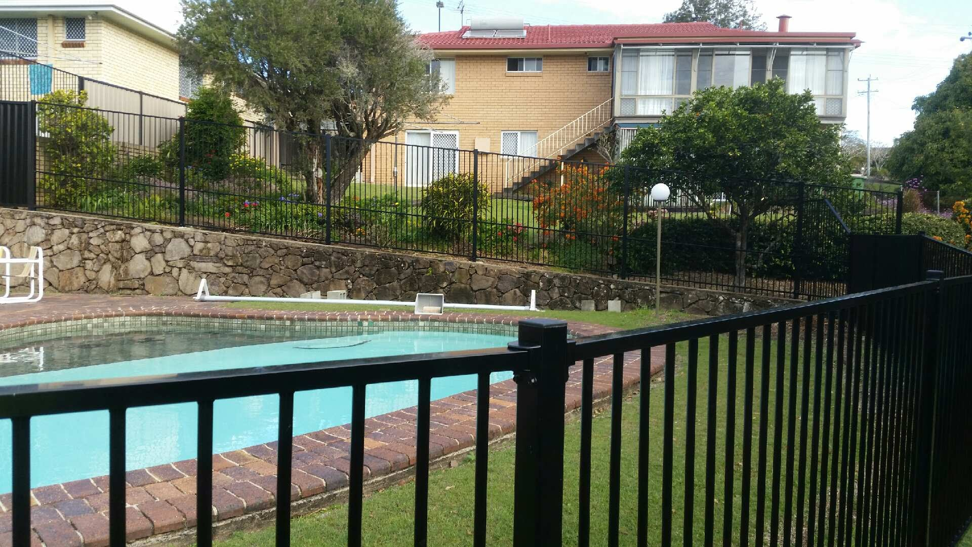 Aluminium Pool Fencing - Available in Black & other Colours